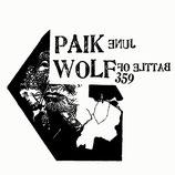 "BATTLE OF WOLF 359 / JUNE PAIK split 7"""