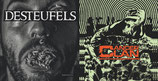 "BUNDLE : CANCER CLAN / DESTEUFELS - Split 12"" & CANCER CLAN / GOD'S AMERICA - Split 7"""