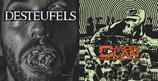 "CANCER CLAN / DESTEUFELS - Split 12"""