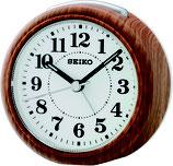 Seiko Wecker QHE157B Analog Quarz Holzoptik
