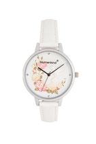 Blumenkind Armbanduhr Woodstock 15081969WHPWH Lederarmband weiß