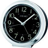 Seiko Wecker QHE146A Analog Quarz Schwarz / Silberfarben