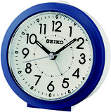 Seiko Wecker QHE174L Analog Quarz Blau / Weiß