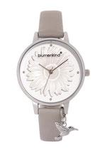 Blumenkind Armbanduhr Houston Blume ganz 04091981SWHPGR stahl/grau