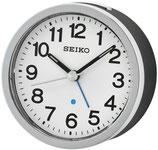 Seiko Wecker QHE138K Analog Quarz Silberfarben / Grau