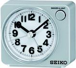 Seiko Wecker QHE100S Analog Quarz Silber
