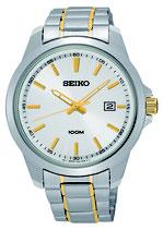 Seiko Armbanduhr Herrenuhr Quarz SUR157P1 bicolor