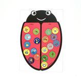 Tableau magnétique Coccinelle avec 30 Magnets routine enfants -3 couleurs