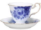 ブルーローズ コーヒー碗皿