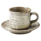 刷毛目コーヒー碗皿