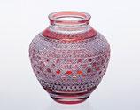 麻の葉に八角籠目 紋 花瓶