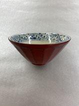 漆陶 面取り茶碗 根来