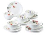 ルーシーガーデン 5客アソートティー・コーヒー碗皿