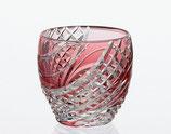 魚子流し 紋 冷酒杯 赤