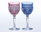 笹っ葉 紋 ペアワイングラス