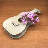 花と楽器のシンフォニー 花器 ギター白
