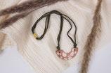 Tonkette terracotta terrazzo- marble clay necklace terracotta terrazzo