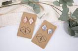 Marmor Rhombus Ton Ohrringe/ marble rhombus clay earrings
