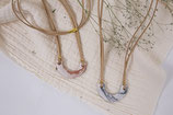 Marmor Tonkette mit Kunstlederband- marble clay necklace with fake leather
