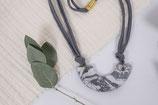 Marmor Tonkette monochrom/ marble clay necklace monochrom