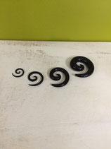 Acryl Dehn- Spiralen schwarz