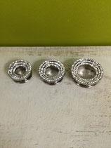 Tunnel Titan Silber, Bling Bling, Kristall Klar