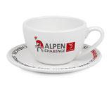 Cappuccino-Tassen Alpen Challenge [Set aus zwei Tassen & zwei Untertassen]