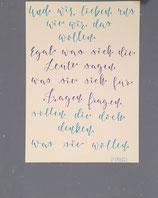 Din A3 Lettering auf weißem Papier