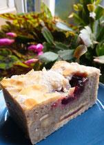 Vegan Raspberry + Almond Chia Blondie