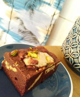 Vegan Tahini Cheesecake Brownie