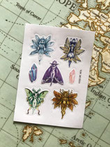 Stickers Fées et cristaux