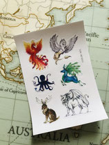 Stickers Animaux fabuleux
