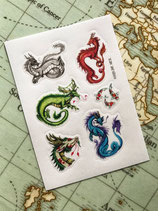 Stickers Dragons Asiatiques