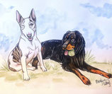 Portrait personnalisé de vos 2 animaux de compagnie