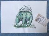 """Dessin original """"esprit de la forêt : ours"""""""