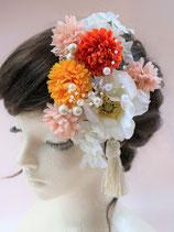 造花の髪飾り アネモネ