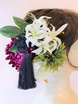 造花の髪飾り ネリネ