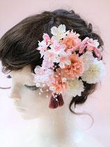 造花の髪飾り 桜