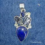 Lapis Lazuli mit Iolith und Mondstein (Unikat)