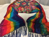 "Fire Star Scarf - Large  (14 x 72"") Fringed"