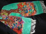 "Tree of Life Scarf  Extra Long  (14 x 72"") Fringed"