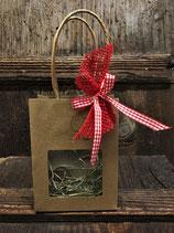 Geschenktasche mit Sichtfenster und Band