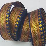 Brokatborte marineblau breit