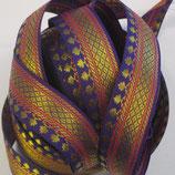 Brokatborte lila breit