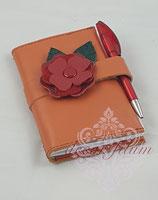 Notizbuch lachs mit Rose
