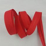 Baumwollschrägband, rot, 1 m