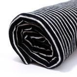 Bio Ringel-Bündchen schwarz-weiß, 0,25 m