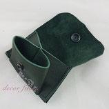 Mini-Geldbeutel Leder grün