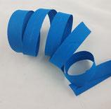 Baumwollschrägband, blau, 1 m