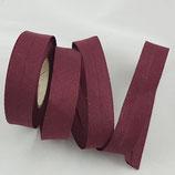 Baumwollschrägband,  bordeaux, 1 m
